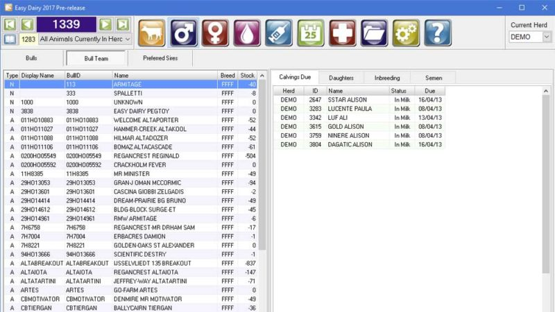 Easy Dairy Heard Management Software - manage your diary using sophisticated and easy to use software